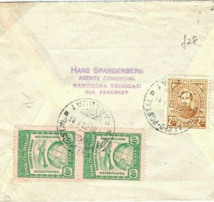 PARAGUAY Cover Santisima Trinidad Air Mail GB Scotland Dundee 1932 {samwells}SV8