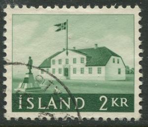 Iceland - Scott 315 - General Issue -1958 - VFU - Single 2k Stamp