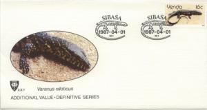 1987 Venda South Africa Iguana (Scott 140) FDC