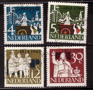 Netherlands Scott 418-421 Used CTO 1963 set