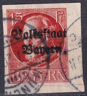 Bavaria #160 F-VF Used CV $20.00 (A18307)