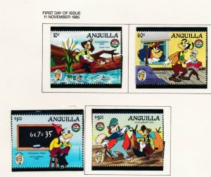 DISNEY ANGUILLA 653-655 MINT NH HUCK FINN MARK TWAIN