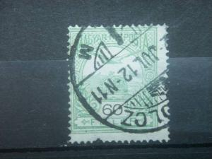 "HUNGARY, 1900-13, used 60k, ""Turul"",  Numerals in Black, Scott 62-80-97"