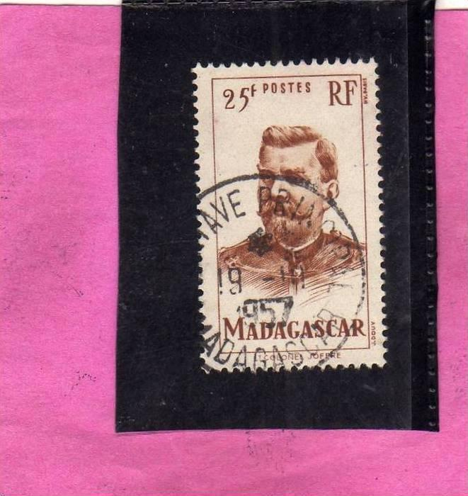 MADAGASCAR MALGACHE 1946 COLONEL JOFFRE - COLONELLO USED