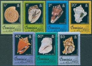 Dominica 1976 SG554-560 Shells set MNH