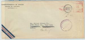 79011  - GUATEMALA - Postal HIistory -  Mechanical red postmark OVERSIZED COVER