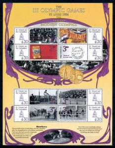 [93278] St. Vincent & Gren. 2009 Olympic Games St. Louis Athetics Sheet MNH