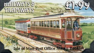 Isle of Man Sc 355b, 355c 1988 Trains stamp booklet mint NH