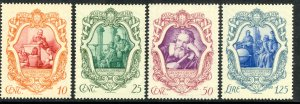 ITALY 1942 GALILEO Set Sc 419-422 MNH