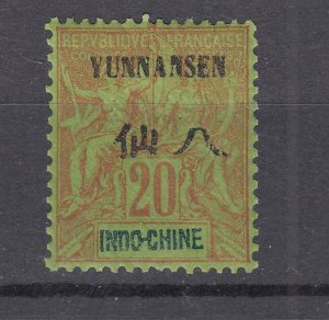 J28870, 1903-4 france office china yunnan fou mhr #7 ovpt