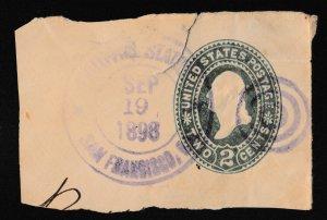 U.S. Washington 2c SC #U313 Envelope Stamp