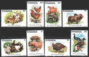 Rwanda. 1978. 966-73. Pets, chickens, camels. MNH.
