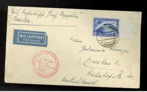 1930 Germany Graf Zeppelin South America Cover  w # C38