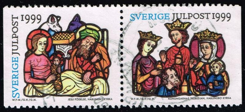 Sweden #2361-2362 Christmas Pair; Used (1.20)