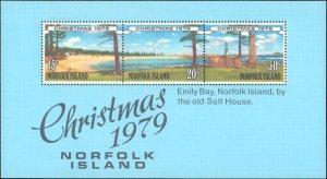 Norfolk Islands #253a, Complete Set, Souvenir Sheet Only, 1979, Christmas, Ne...