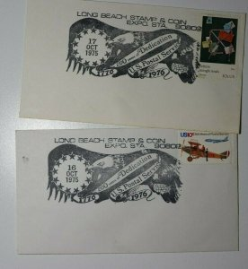 Long Beach Stamp & Coin Expo Sta 200 Years US Postal Service Philatelic Cachet