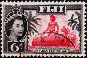 Fiji. 1954 6d S.G.303 Fine Used