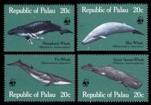 1983 Palau 20-23 WWF / Sea fauna 6,40 €