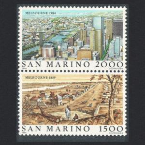 San Marino 'Ausipex 84' International Stamp Exhibition 2v Vertical pair