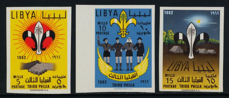 Libya 222-4 imperf MNH Scouts