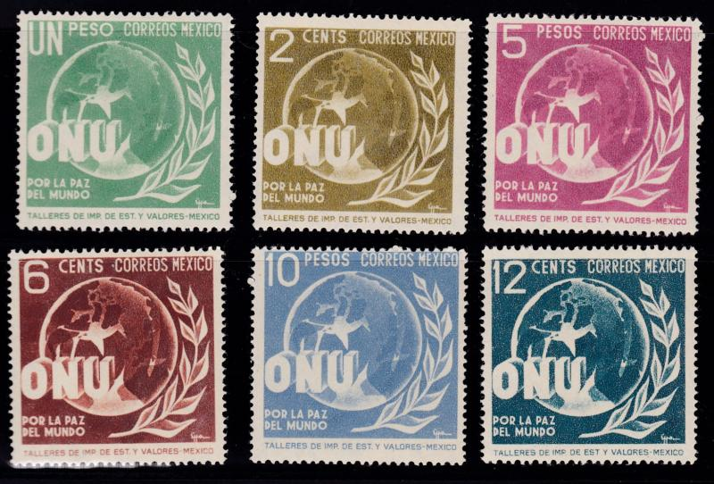 Mexico 1946 Allegory of World Peace Complete (6)  VF/NH United Nations