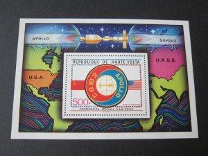Burkina Faso 1975 Sc C219 space set MNH