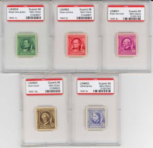 859-863, ALL 5 WITH PSE GRADED 98 CERTS - ENCAPSULATED