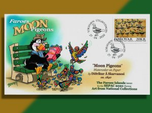 FAROES 'Moon Pigeons' Flock to the Park for Lunch on 2020 SEPAC FDC