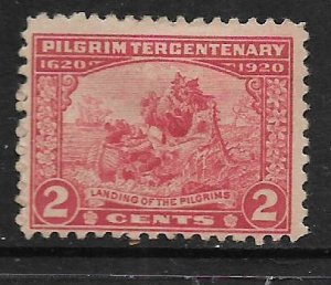 US 549   MINT HINGED, PILGRIM TERCENTENARY ISSUE