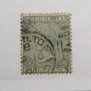 Bermuda Scott #23 Victoria Θ used, very fine + 102 card, superfleas