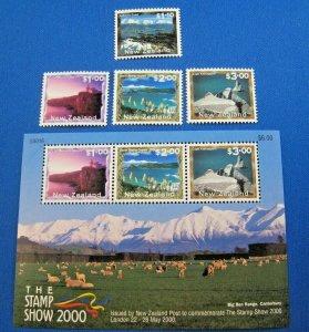NEW ZEALAND  2000  -  SCOTT # 1636-1639 & 1639a  -   MNH   (Hn14)