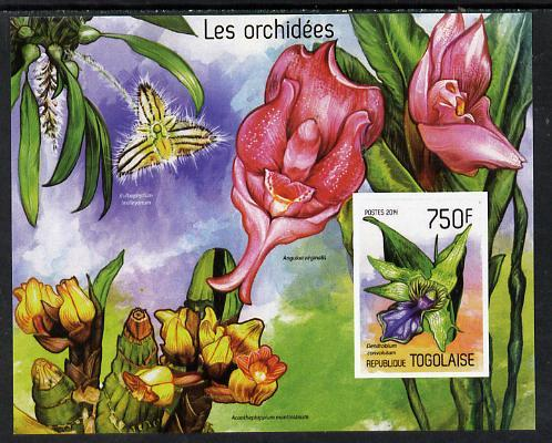 Togo 2014 Orchids imperf s/sheet A - unmounted mint