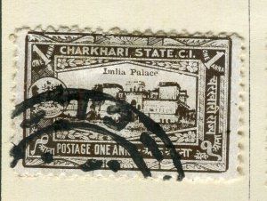 INDIA; CHARKHARI STATE 1931 early pictorial issue fine used 1a. value
