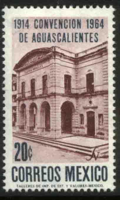MEXICO 960, 50th Anniv. of the Aguascalientes Convention. MINT, NH. VF.