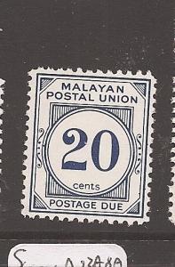 Malaysia MPU 20c Postage Due SG D21ab MNH (3ath)