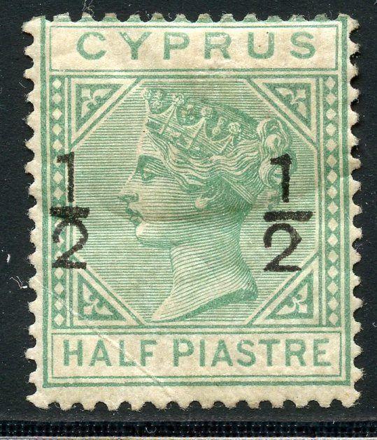 CYPRUS SCOTT#18 STANLEY GIBBONS #25  MINT HINGED SCOTT VALUE $190.00