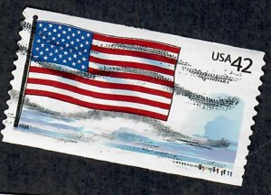 US #4273 Flag and Clouds Used PNC Single Plate #S111111111