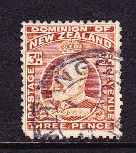 NEW ZEALAND 1909 3d KEVII FU P14x13 1/2  SG 401