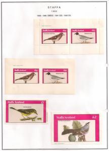 SCOTLAND - STAFFA - 1982 - Birds #18 - Perf, Imp 2v, Souv, D/L Sheets - MLH