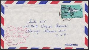 ANTIGUA 1979 cover to USA - scarce handstruck CARNIVAL slogan...............6588
