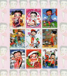 Chad 856-8 Betty Boop Mint Nh Up-To-Date Styling Topical Stamps