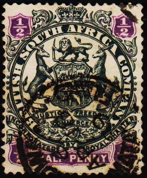 Rhodesia. 1896 1/2d S.G.41 Fine Used