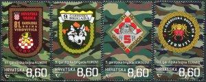 Croatia 2020. Guard Brigades and Battalions (MNH OG) Set of 4 stamps