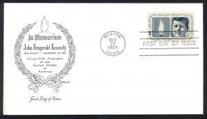 U.S.A. Sc#1246 John F. Kennedy Boston MASS. ArtMaster (1964) FDC (A)