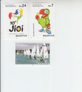 2019 Mauritius Indian Ocean Games  (3) (Scott 1193-95) MNH