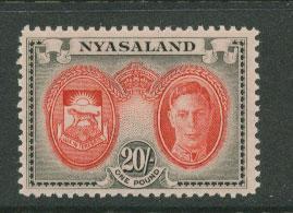 Nyasaland  SG 157 MUH