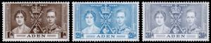 Aden Scott 13-15 (1937) Mint NH VF Complete Set C