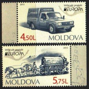 Moldova. 2013. 829-30. Postal transport, horses, europe-sept. MNH.