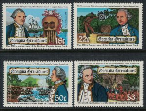 Grenada #303-6* NH  CV $5.00  Captain Cook set