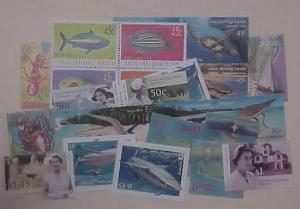COCOS ISLAND 35 STAMPS MINT NH FACE IS $20.60